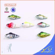 HFL001 vida de señuelo de la pesca de plástico duro como bluegil hundimiento bajo 2 swimbait articulado