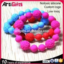 High end fashionable handmade silicon bead bracelet cheap for events