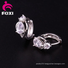 Wholesale Fashion CZ Gemstone Hoop Earrings