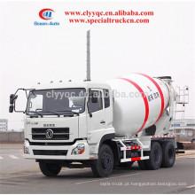 DongFeng 10CBM caminhão misturador camiões demensões com 6x4 caminhões misturadores à venda
