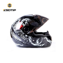 Marca Tanked Legal Cor Capacete Da Motocicleta Rosto Cheio Dot Graffiti Esqueleto Cascos Para Moto S / M / L T-108