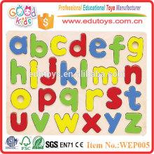 2015 Intelligence Colorful Wooden Alphabet Kids Puzzle Toys