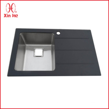 Single Bowl with Board Glass Sink Kitchen