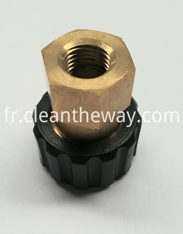 "ETD Pressure Washer Twist Connect M22 X 1/4"" Female NPT 4000PSI Brass Fitting"