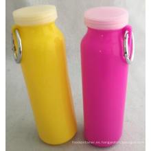 Botella de agua plegable de silicona de diseño de 20 onzas