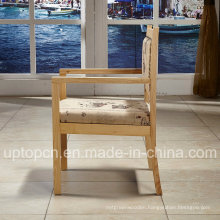 Wooden Restaurant Furniture Chair with Special Chinese Elements on Fabric Upholstery (SP-EC864)
