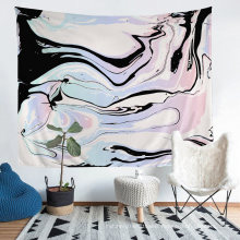 Tapestry with 3D Printed Marble Pattern