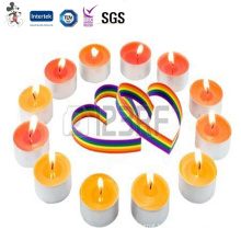 Environmental Competitive Price Fashionable Unscented Colored Bco Unscented Colored Tea Light Candles
