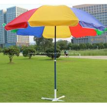 Metal Straight Outdoor Beach Colorful Umbrella