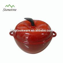 Heavy-Duty Enamel Coating Pumpkin Shape Cast Iron Cookware