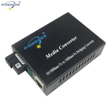 20 ~ 80km single mode WDM optische Faser Medienkonverter