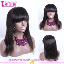 К 2015 году новых продуктов higt качество шелковистая прямая парик фронта шнурка 100% индийский Реми натуральных волос парик