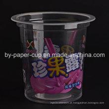 Copo de plástico personalizado padrão de cor