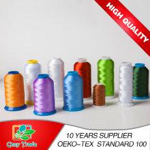 108d / 2 120d / 2 Polyester Stickerei Gewinde für Stickerei Maschine, Industrial Smooth Thread Gute Qualität