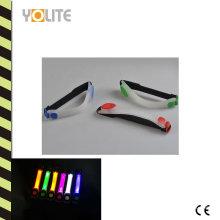 Водонепроницаемый светодиодный проблесковый светоотражающие ночи спорта запуск повязки