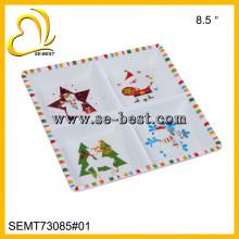 vier Fächer Melamin quadratische Platte und Tablett