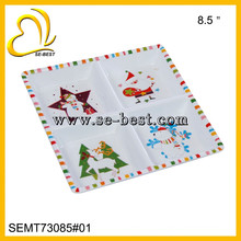 four compartments melamine square plate & tray