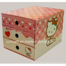 Impressão personalizada caixa de gaveta de papel ondulado