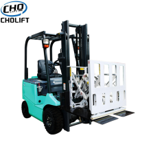 Forklift attachment push & pull subassembly