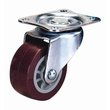 Roulette pivotante pivotante légère (rouge)
