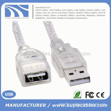 Blanc Standard USB 2.0 mâle à femelle M / F Extension Extender Câble 0,2 m
