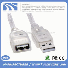 White Standard USB 2.0 Male to Female M/F Extension Extender 0.2m Cable