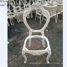 Cadre de chaise de salle à manger en bois populaire en gros français français exquise européenne cadres de chaise en bois de sculpture