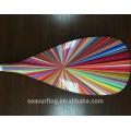 2016 Новый год графический стекловолокна весло с цветным лезвием по продвижению