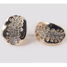 Oval Design with CZ Stones Boucles d'oreilles