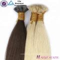 De calidad superior Buena Feedback pelo virginal brasileño de punta completa pre-enlazado Punta I punta plana extensiones de cabello