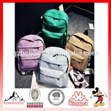 Mochila escolar de lona de alta qualidade para preços de sacos de escola de venda