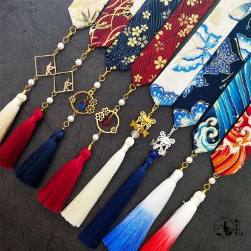 Accessoires de broderie de ruban de vêtements chinois hommes et femmes