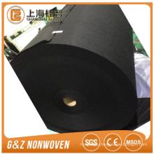 Black charcoal jumbo rolls black color nonwoven fabric huge roll