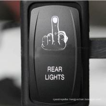 DC 12V/20A Rear Lights Car Rocker Switch with 2 LED Light