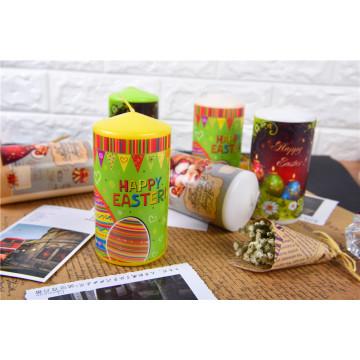 Conjuntos de caixa de presente de decoração de velas de natal