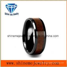 Shine Me Schmuck Intarsien Holz Schwarz Überzug Wolfram Hartmetall Ring