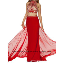 Two Sexy Evening Gowns in Red Beads Party Dress