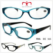 Plástico xadrez padrão leitura óculos (wrp508332)
