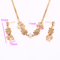 62324-Xuping Fashion Woman two pieces Jewlery Set with 18K Gold Plated