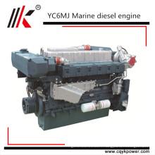 YC6A250-C20 250hp moteur marin 4 temps bateau moteur diesel moteur marin avec boîte de vitesses