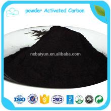 Msds de carbón activado en polvo negro con polvo y partículas