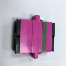 Sc Duplex Fiber Optic Adapter mit Magenta Gehäuse