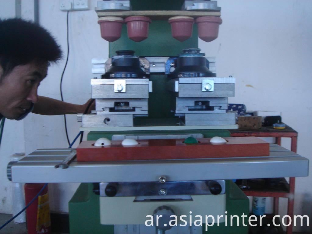single color double-head pad printer