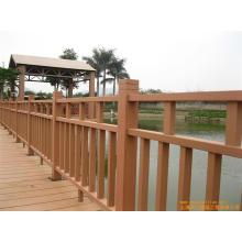 Clôture WPC de grain de bois extérieur de haute qualité