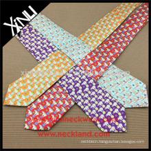 100% Handmade Perfect Knot Silk Print Minion Necktie
