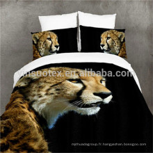 The Running Leopard 3D Housse de couette Housse d'oreiller Housse de couette Ensemble de literie Single Queen King