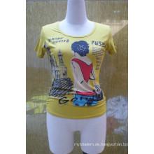 Damen T-Shirt, Wärmeübertragung Druck T Shirt