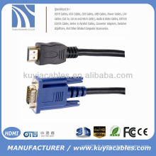 Câble de convertisseur HDMI à VGA M 2M GOLD PLATED