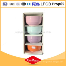 5 inches ceramic round bowl with horizontal strips for BS10224