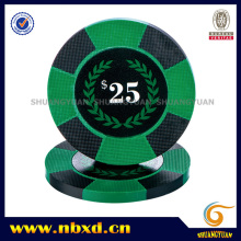 9.5g 2-Tone Pure Clay Poker Chip with Custom Stickers
